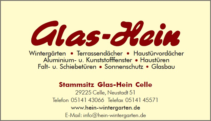 Firma Glaserei Hein Gmbh In Celle Branche N Glasbau